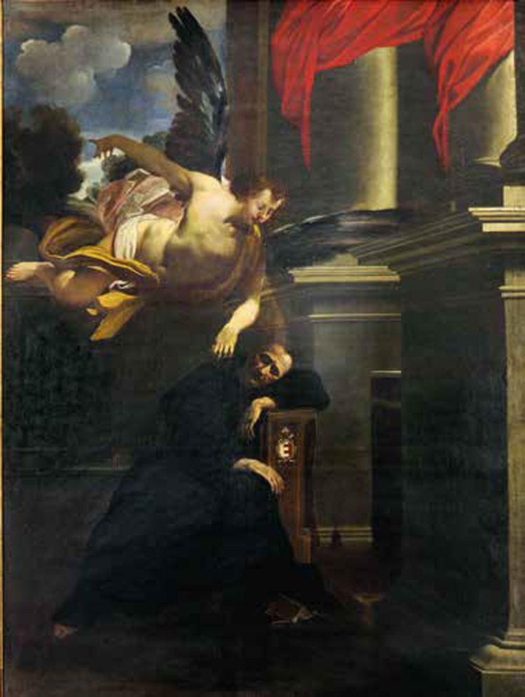 Carlo Bononi, Visione di san Paterniano (1618-20; olio su tela, 310 x 225 cm; Fano, basilica di San Paterniano)