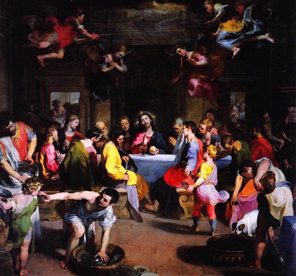 Federico Barocci, Ultima cena (1590-1599; olio su tela, 299 x 322 cm; Urbino, Duomo)