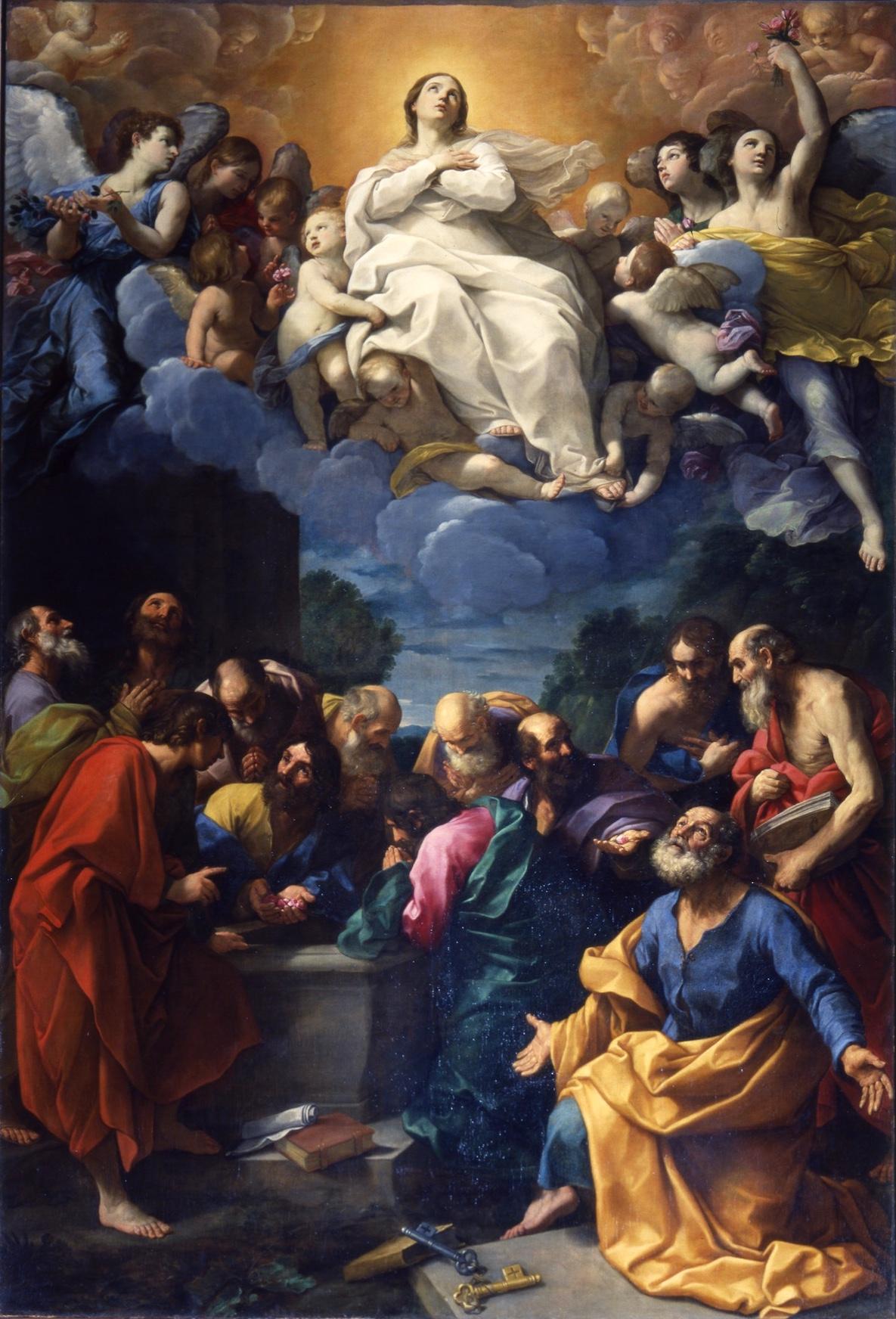 Guido Reni, Assunzione (1616-1617; olio su tela, 442 x 287 cm; Genova, chiesa del Gesù)