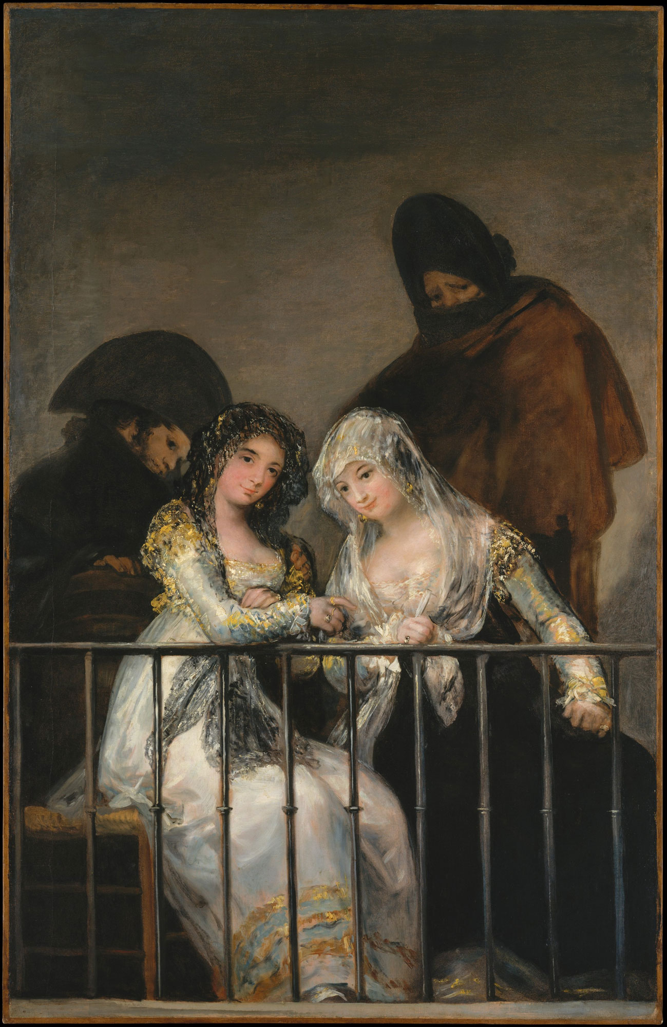 Francisco Goya, Majas al balcone (1800-1810; olio su tela, 195 x 125,5 cm; New York, Metropolitan Museum of Art)