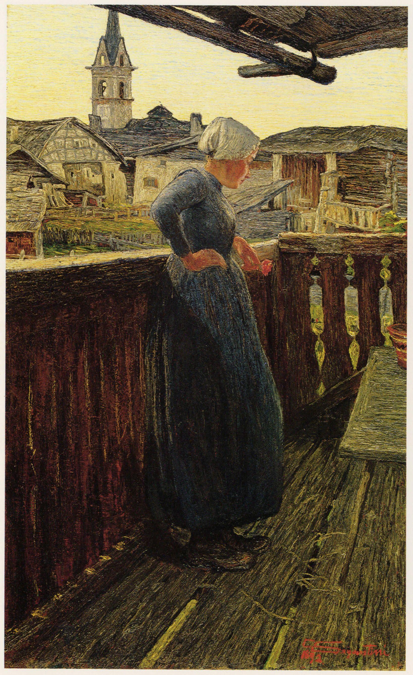 Giovanni Segantini, Al balcone (1893; olio su tela, 66 x 41,5 cm; Coira, Kunsthaus)