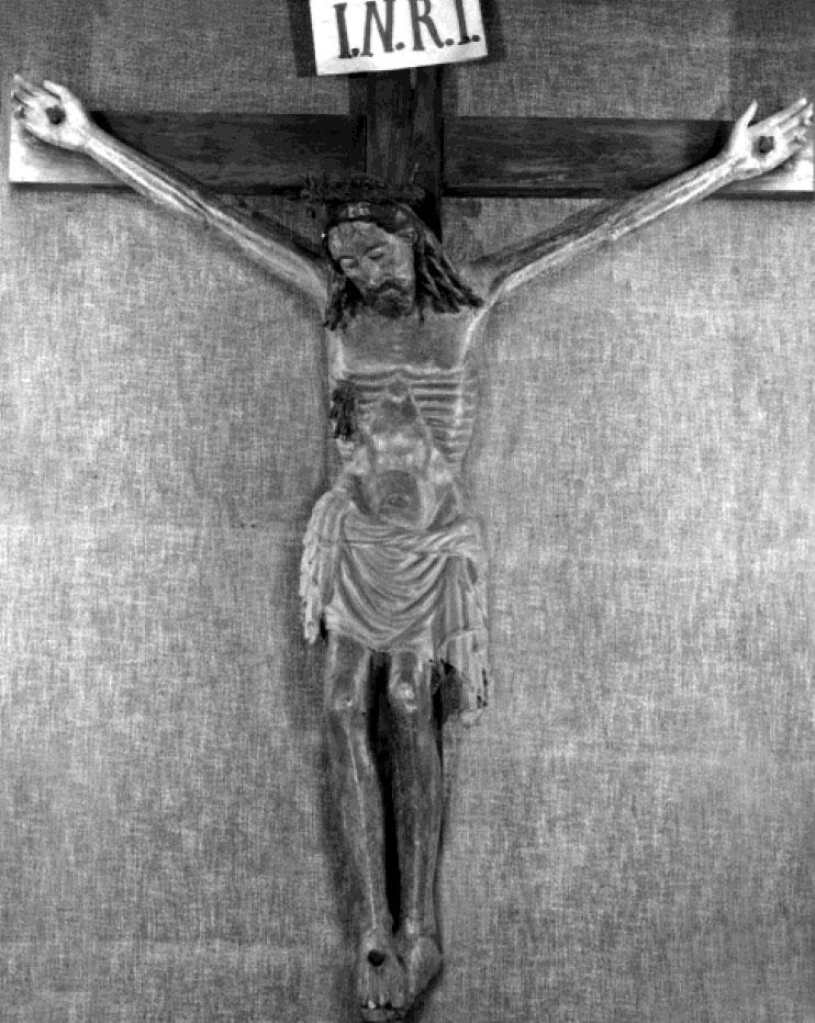 Artista tedesco, Crocifisso di Lorenzo in Damaso (1300-1325 circa; legno policromo; Roma, San Lorenzo in Damaso)