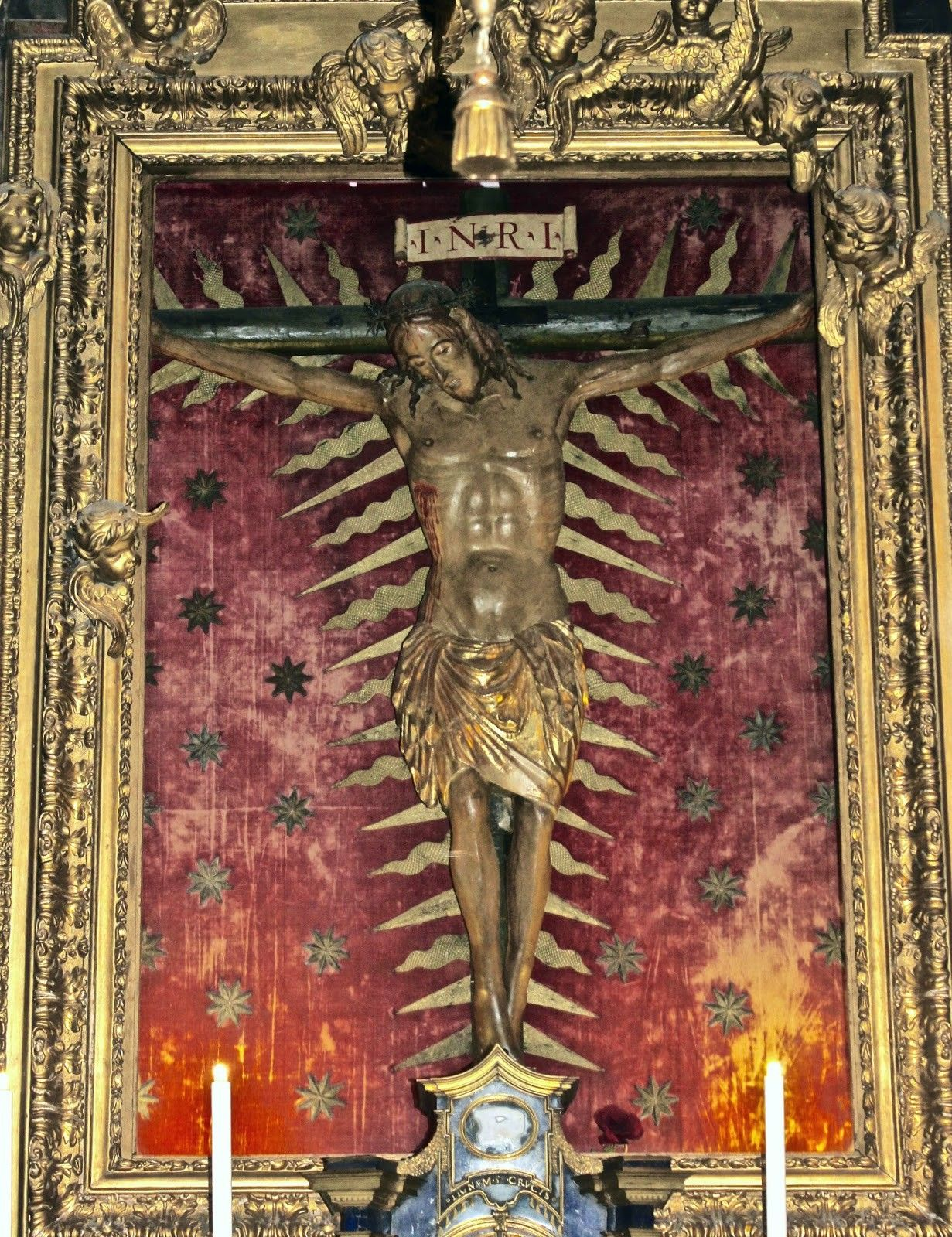 Artista romano, Crocifisso di San Marcello al Corso (1370-1379 circa; legno policromo; Roma, San Marcello al Corso)