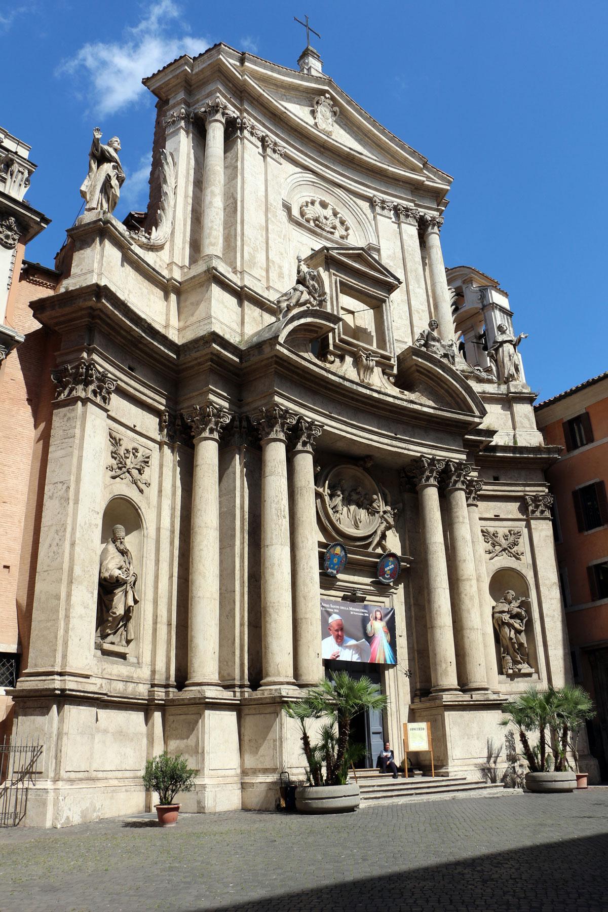 La facciata della chiesa di San Marcello al Corso. Ph. Credit Francesco Bini