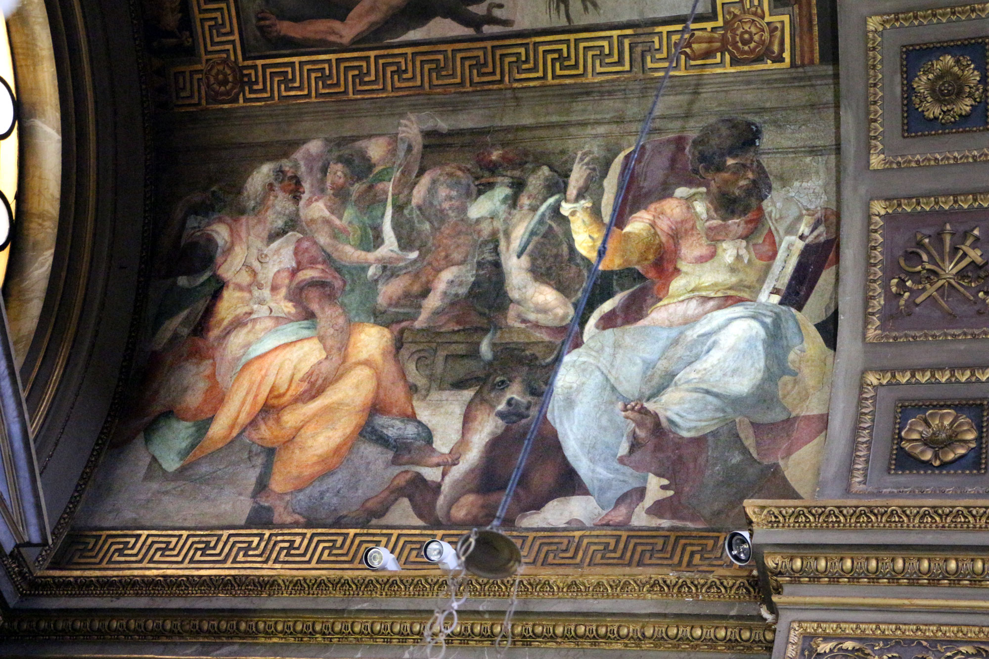Perin del Vaga e Daniale da Volterra, I santi Matteo e Luca (1540-1543; affresco; Roma, San Marcello al Corso)