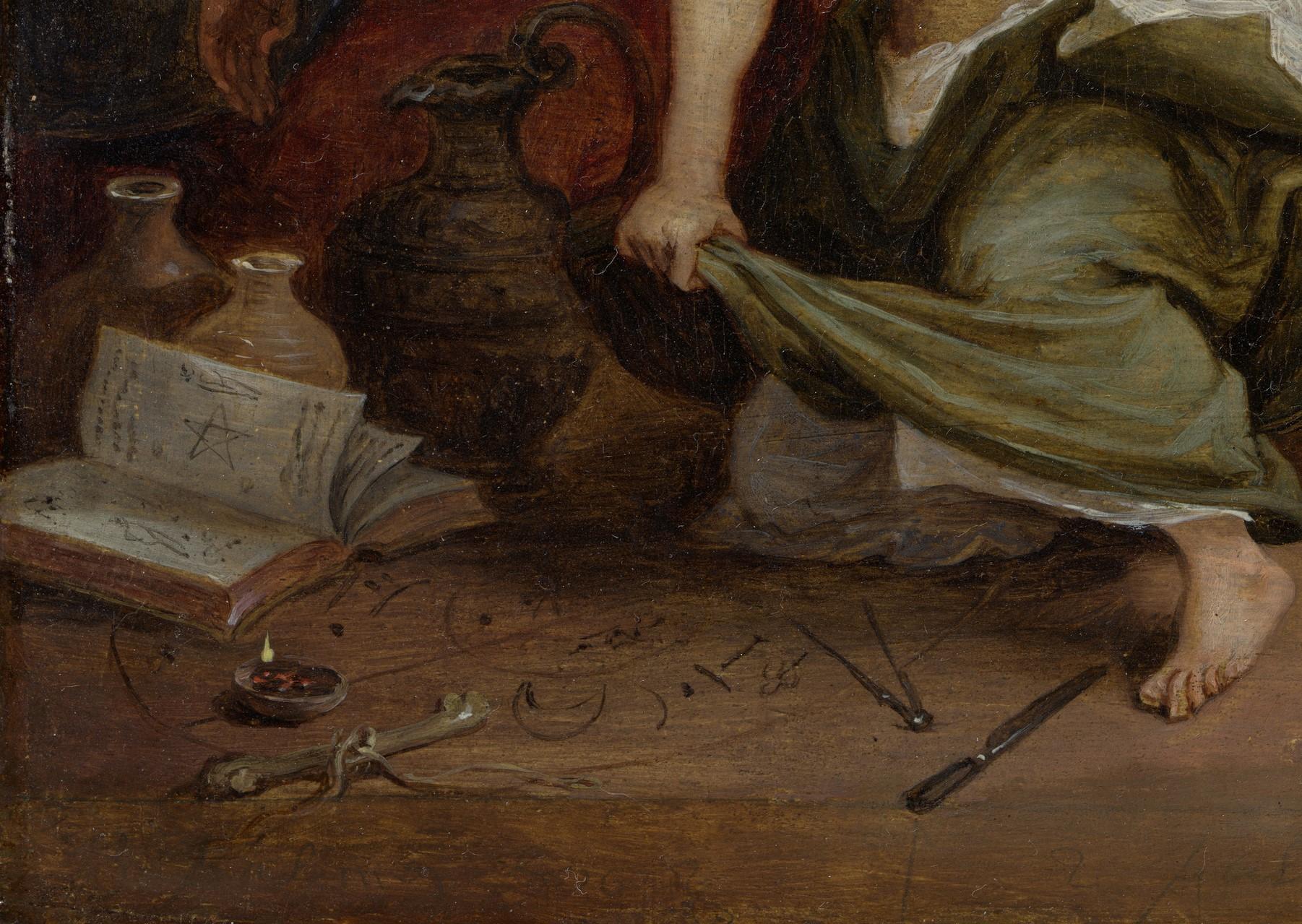 8. David Teniers il giovane, da Lorenzo Lotto, Allegoria della frode, New York, Metropolitan Museum of Art, Lehman Collection, particolare
