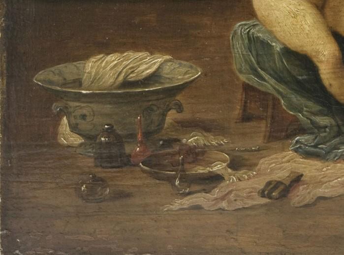 7. David Teniers il giovane, da Lorenzo Lotto, Allegoria della lussuria, Philadelphia Museum of Art, Johnson Collection, particolare