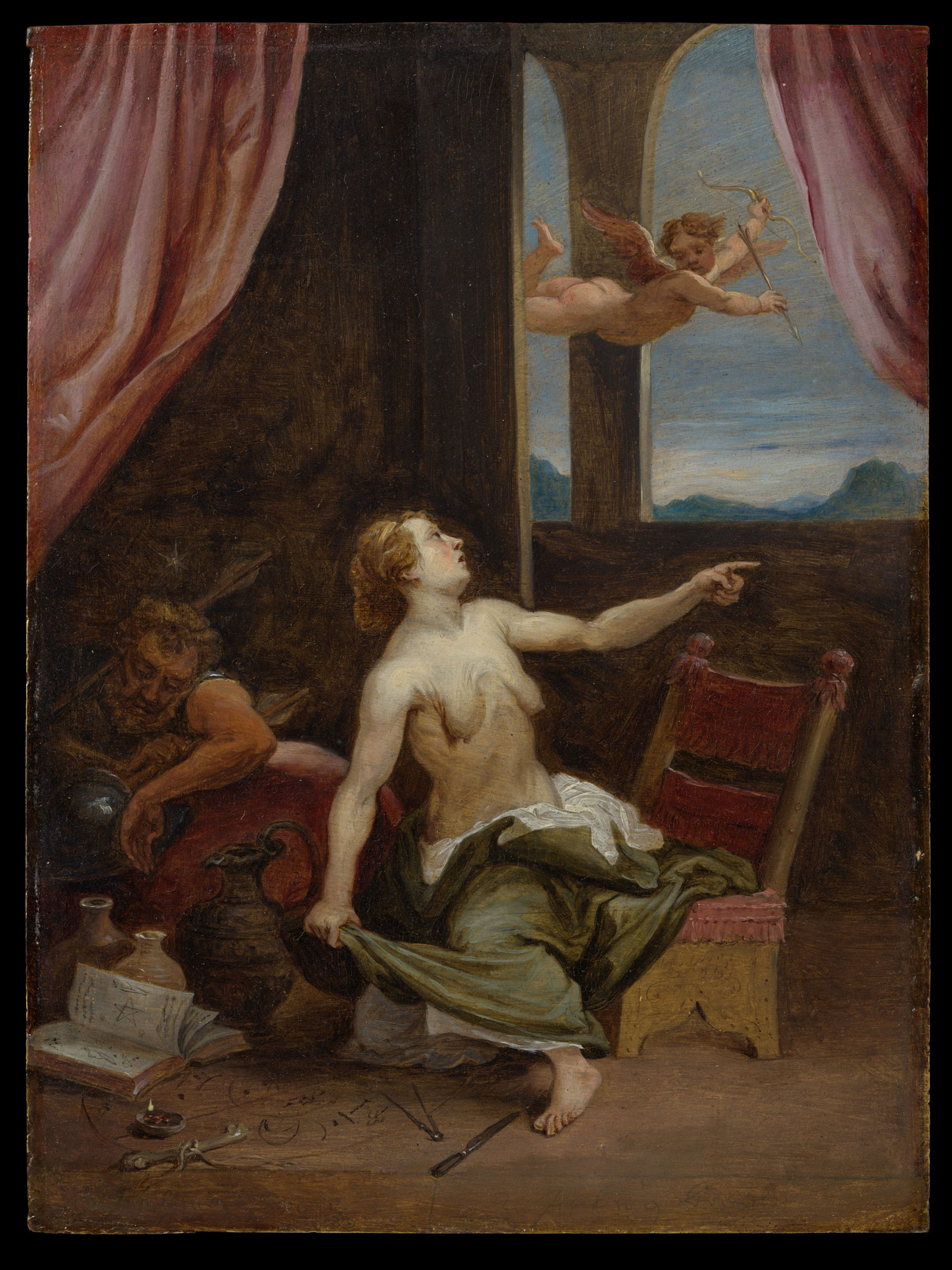 5. David Teniers il giovane, da Lorenzo Lotto, Allegoria della frode, New York, Metropolitan Museum of Art, Lehman Collection