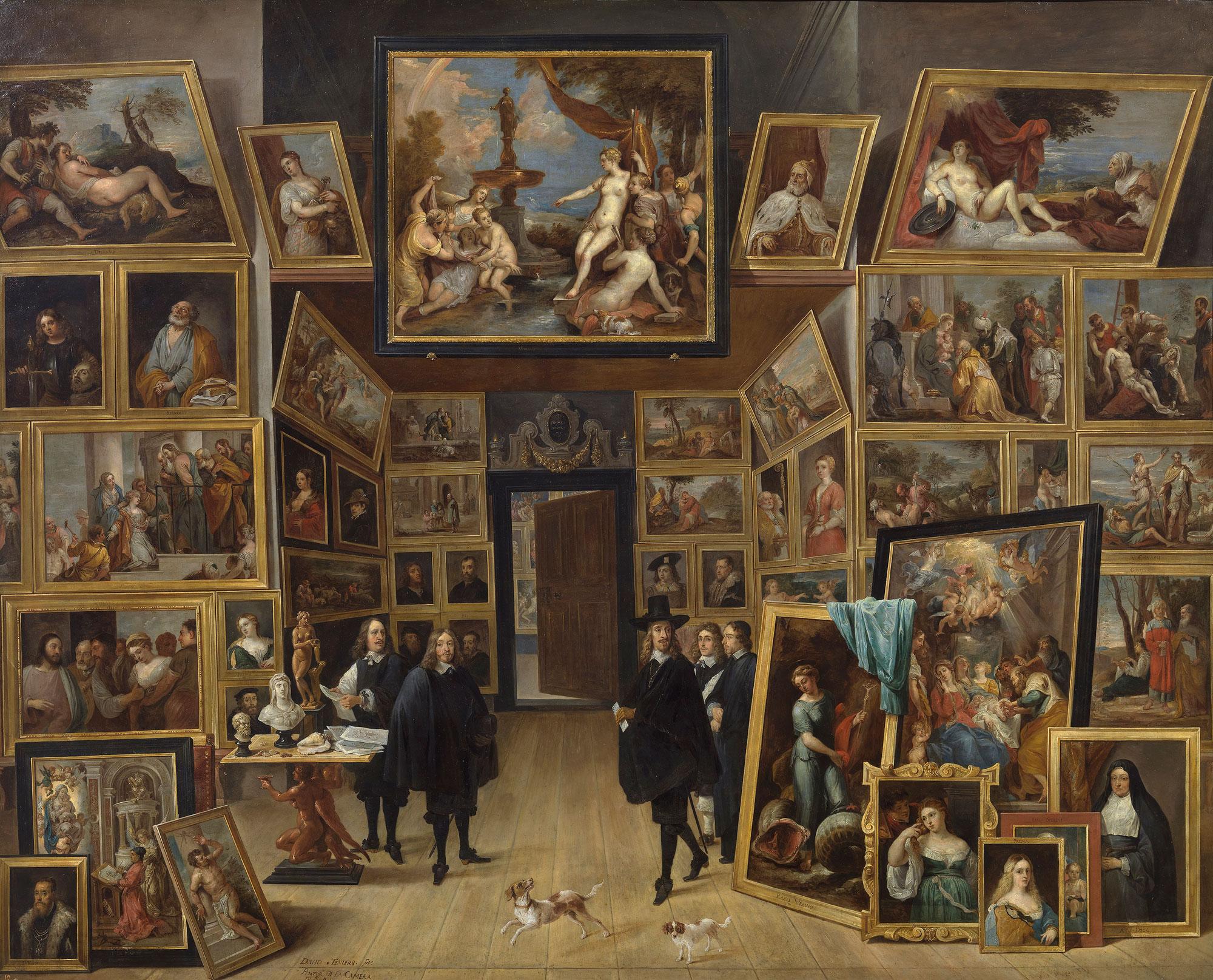 1. David Teniers il giovane, L'arciduca Leopoldo Guglielmo nella sua Galleria, Madrid, Museo del Prado