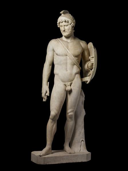 Arte romana, Adriano imperatore in veste di Marte (II secolo d.C.; marmo; Roma, Musei Capitolini)