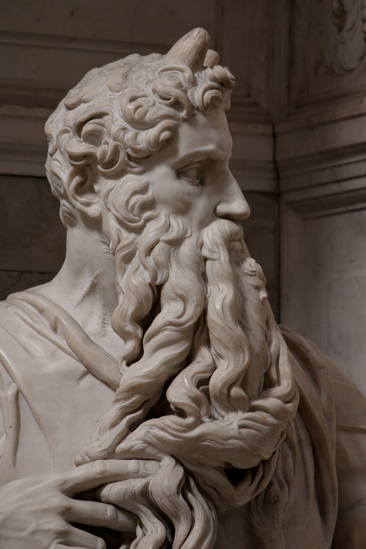 Michelangelo Buonarroti, Mosè, dettaglio del collo. Ph. Credit Jörg Bittner Unna