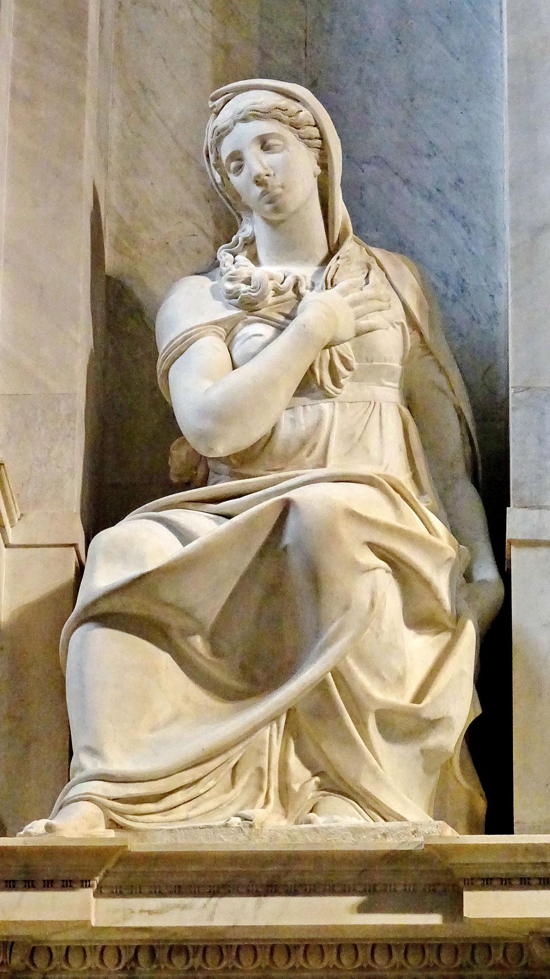 Raffaello da Montelupo, Sibilla (1537-1545; marmo; Roma, San Pietro in Vincoli). Ph. Credit Luciano Tronati