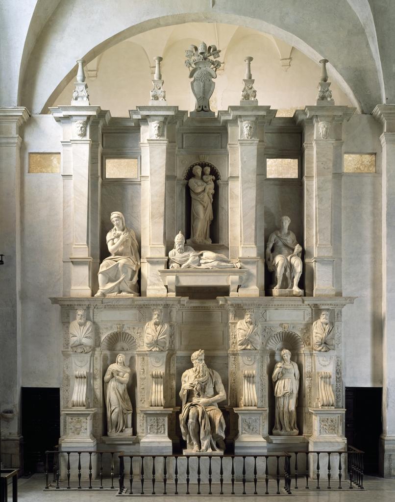 Michelangelo Buonarroti, Tomba di Giulio II (1505-1545; marmo; Roma, San Pietro in Vincoli). Ph. Credit Andrea Jemolo
