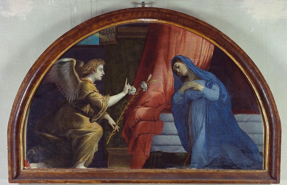Lorenzo Lotto, Annunciazione (1532; olio su tela, 103 x 132 cm; Jesi, Pinacoteca Comunale, Palazzo Pianetti)