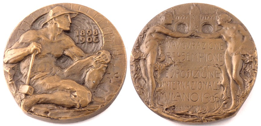 Giannino Castiglioni, Medaglia dell'Esposizione Internazionale del Sempione (1906; Milano, Museo Nazionale Scienza e Tecnologia Leonardo da Vinci, donazione Johnson)