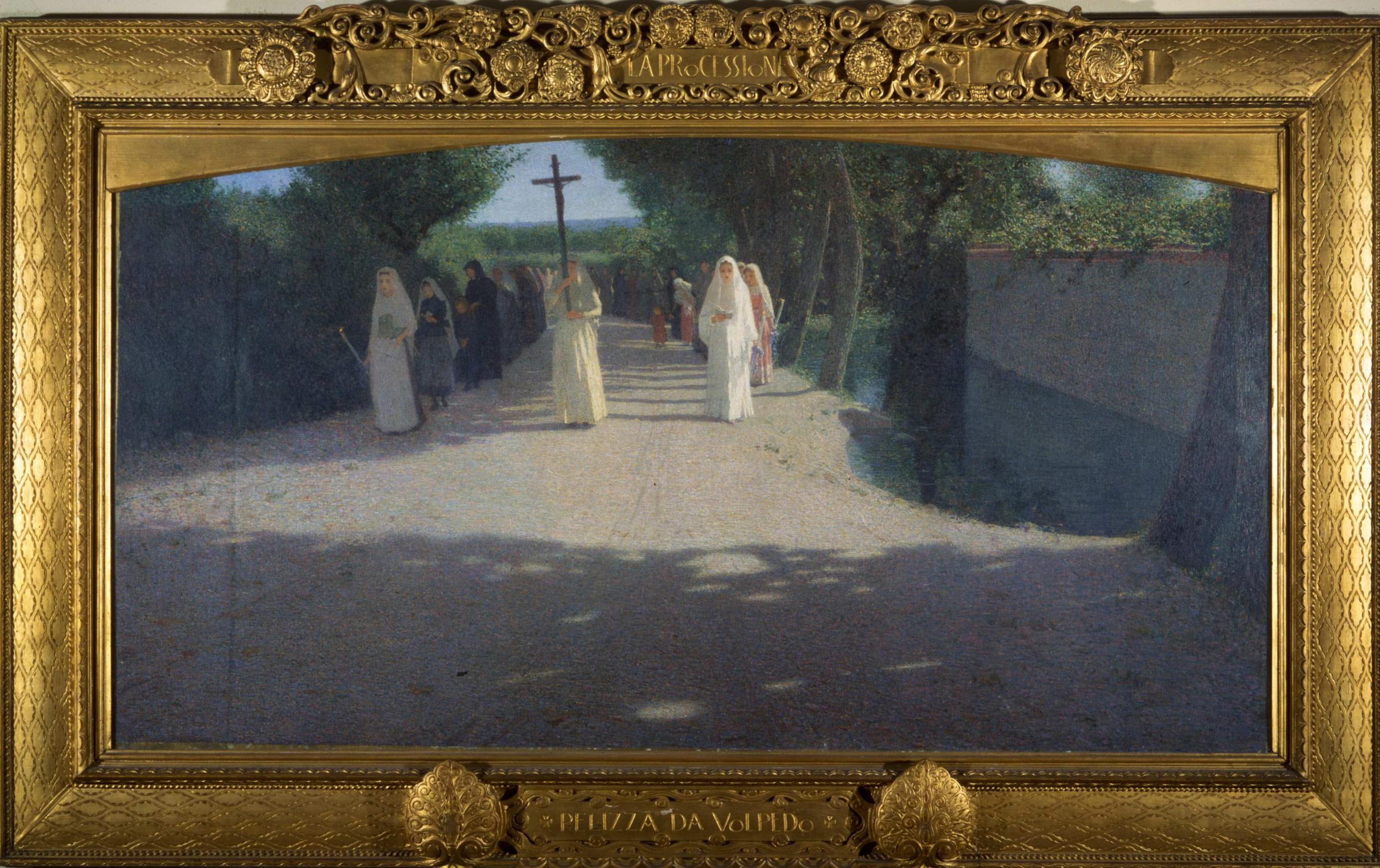 Giuseppe Pellizza, La Processione, (1892-95; Milano, Museo Nazionale Scienza e Tecnologia Leonardo da Vinci, donazione Rossi)