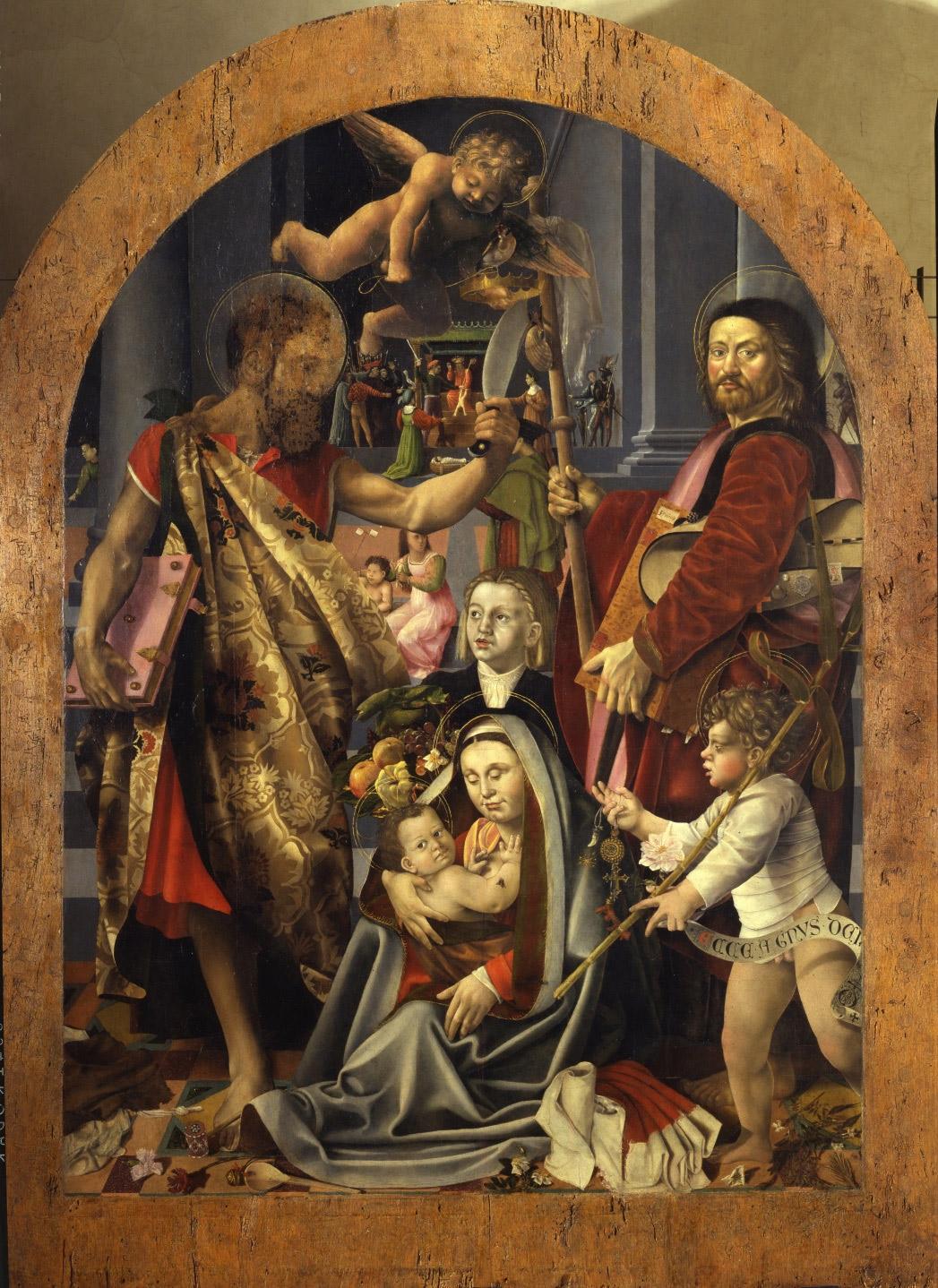 1. Bernardino Detti, Madonna dell'umiltà e Santi (Pala della Pergola) (Pistoia, Museo Civico. Su concessione del Comune di Pistoia)