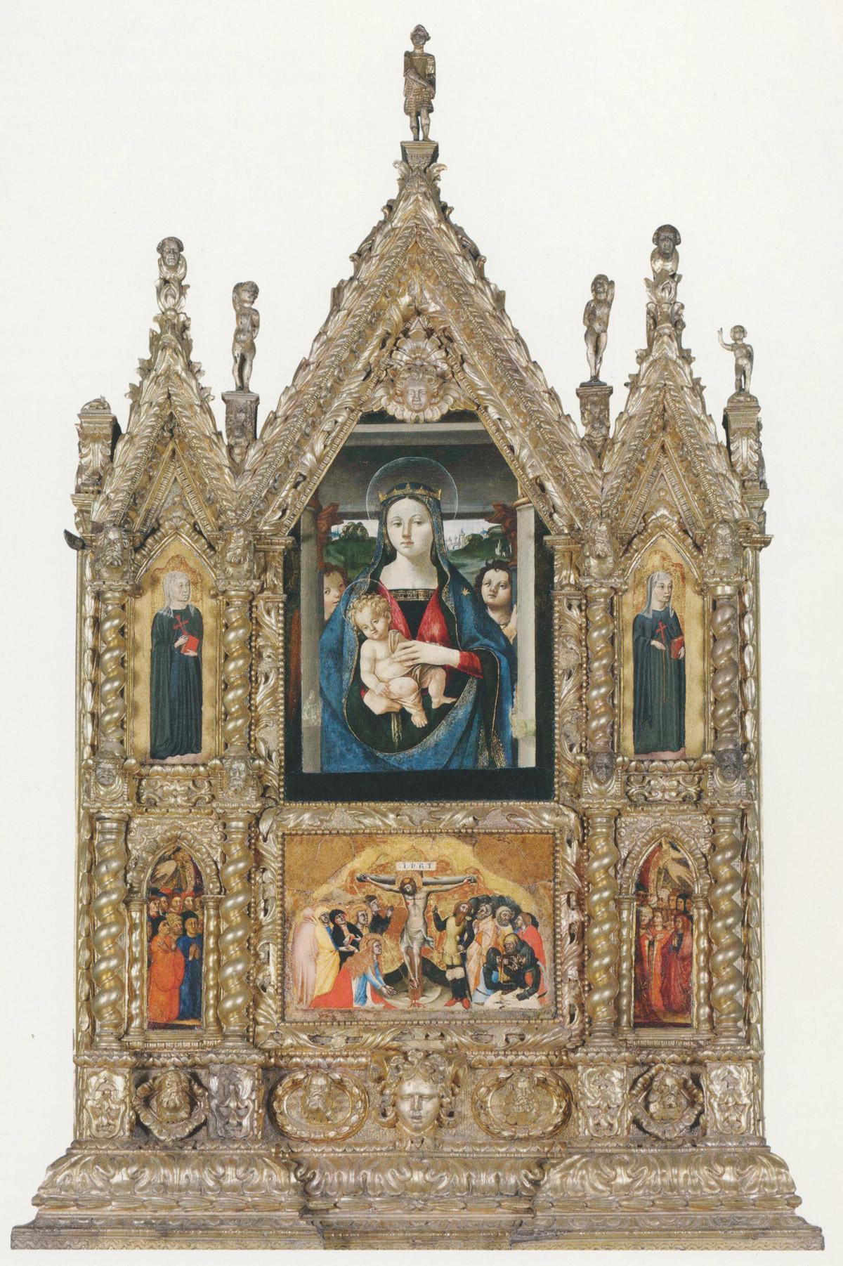 10. Polittico, composizione di elementi di età diverse (Lione, Cappella del Collegio dei Gesuiti - Centro San Marco)