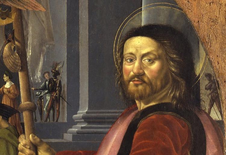 2. Bernardino Detti, Madonna dell'umiltà e santi, dettaglio