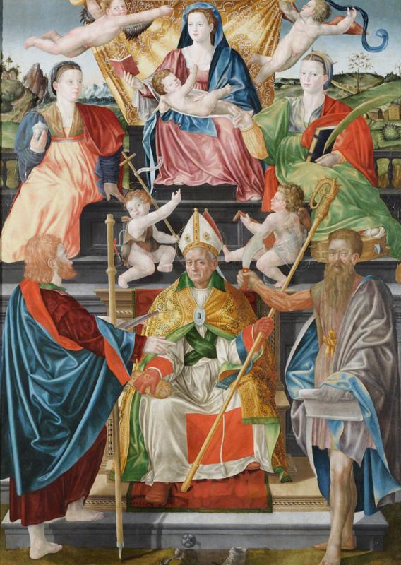 5. Bernardino Detti, Madonna col Bambino, angeli e santi (Pala di Wawel) (Cracovia, Castello di Wawel)