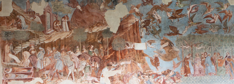 Bonamico Buffalmacco, Trionfo della Morte (1336 circa; affresco, 564 x 1497 cm; Pisa, Camposanto Monumentale)