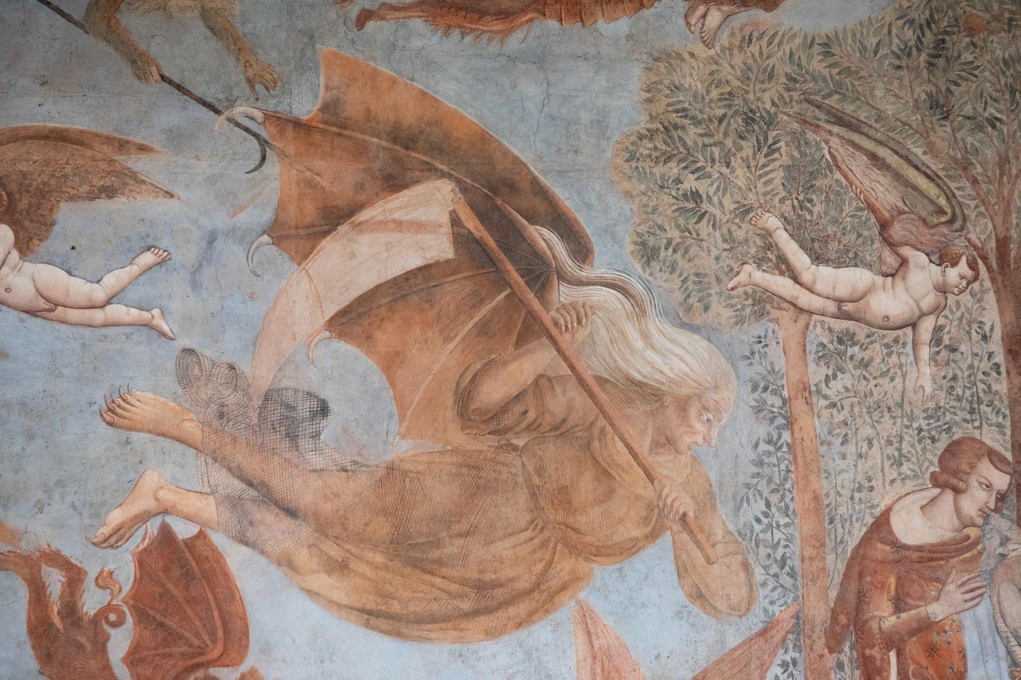 Bonamico Buffalmacco, Trionfo della Morte, dettaglio della Morte
