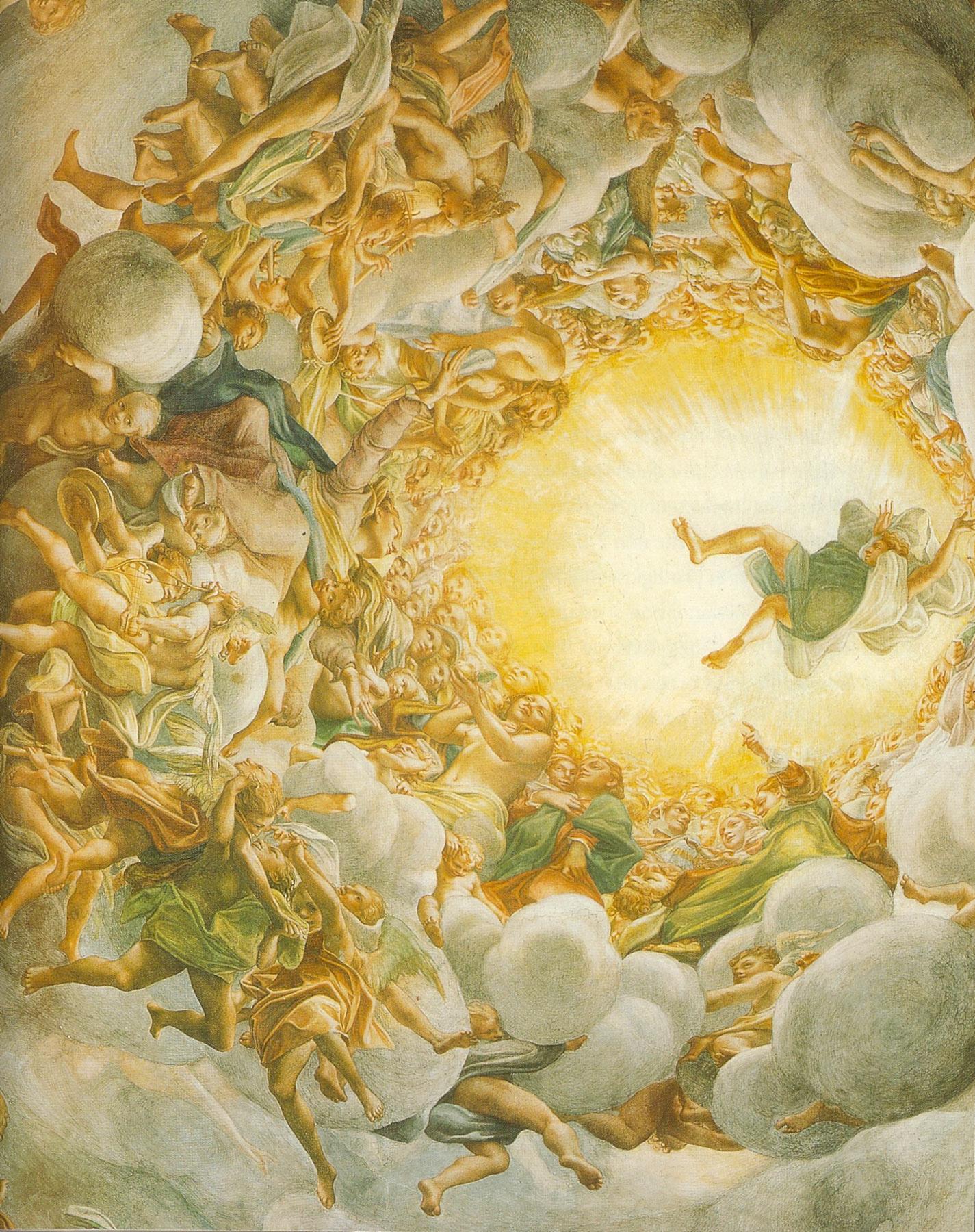 Correggio, Assunzione di Maria, particolare (affresco della cupola del Duomo di Parma)
