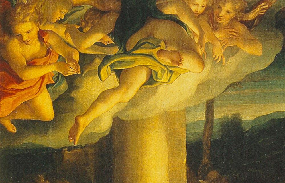 Correggio, La Notte, gli angeli.