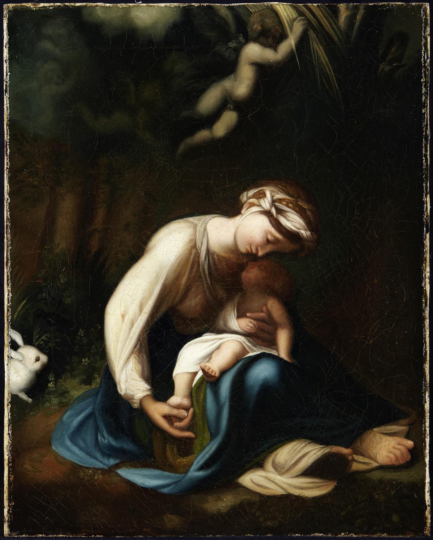 Correggio, La Zingarella (olio su tela, 46,5 x 37,5 cm; Proprietà privata, Monaco di Baviera)