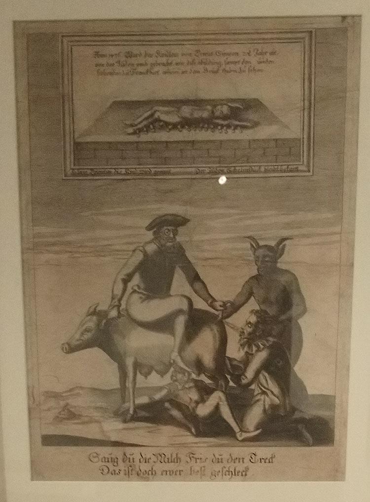 Ambito tedesco, Judensau (inizi del XVII secolo; Trento, Università degli Studi)