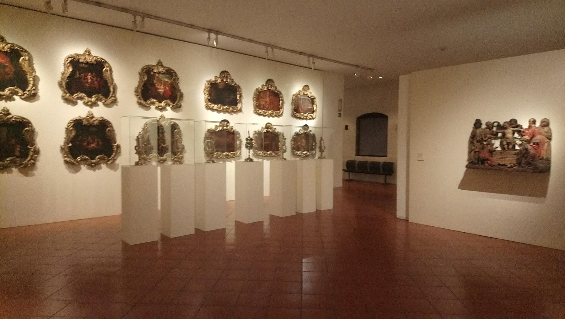 Sala della mostra L'invenzione del colpevole. Il caso di Simonino da Trento dalla propaganda alla storia