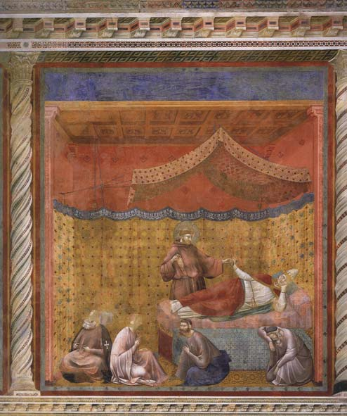 Giotto, San Francesco appare a Gregorio IX (1295-1299 circa; affresco, 230 x 270 cm; Assisi, Basilica Superiore di San Francesco)