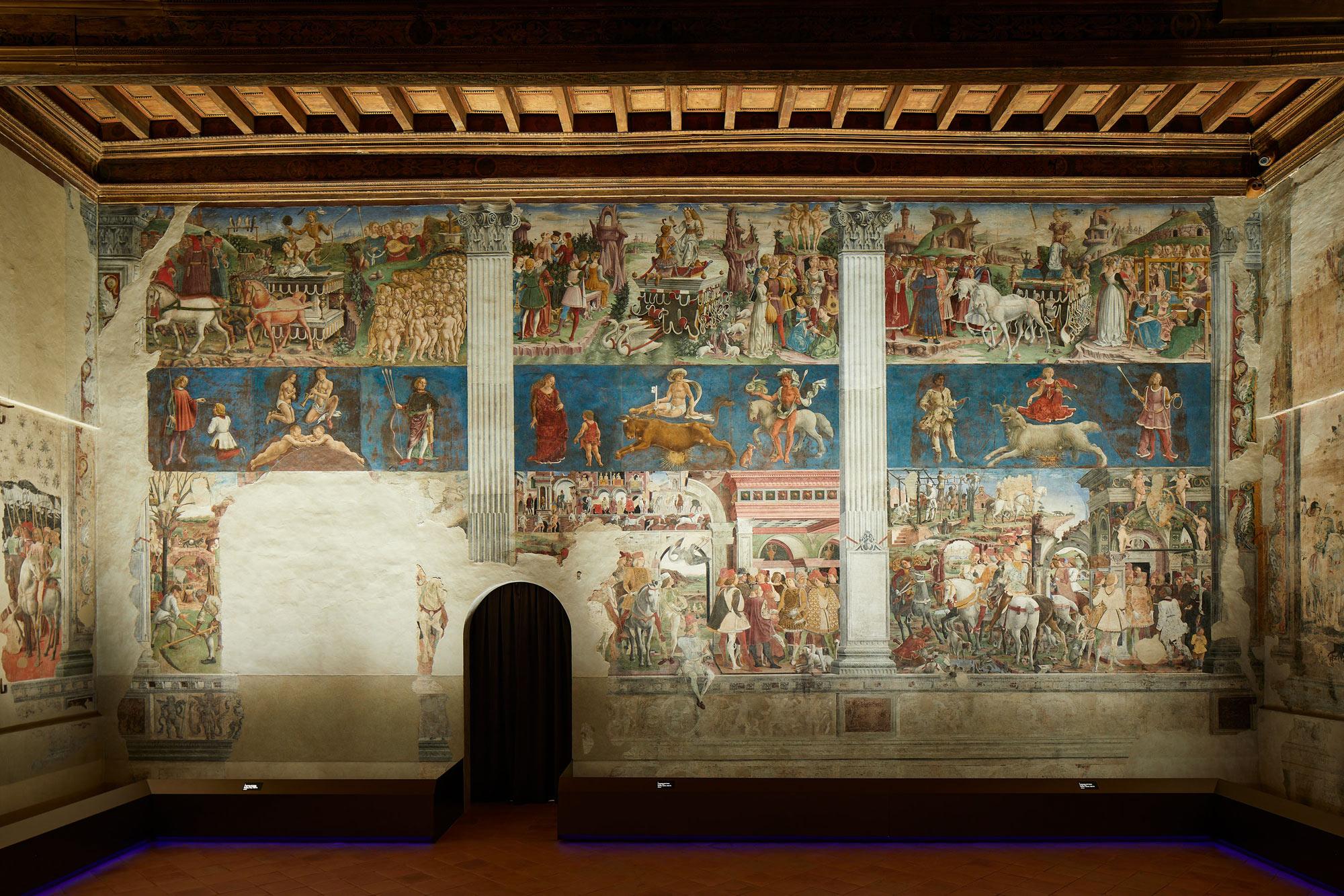 Palazzo Schifanoia, Salone dei Mesi: parete est, mesi di Marzo, Aprile e Maggio (Francesco del Cossa, 1469-70). Ph. Credit Henrik Blomqvist