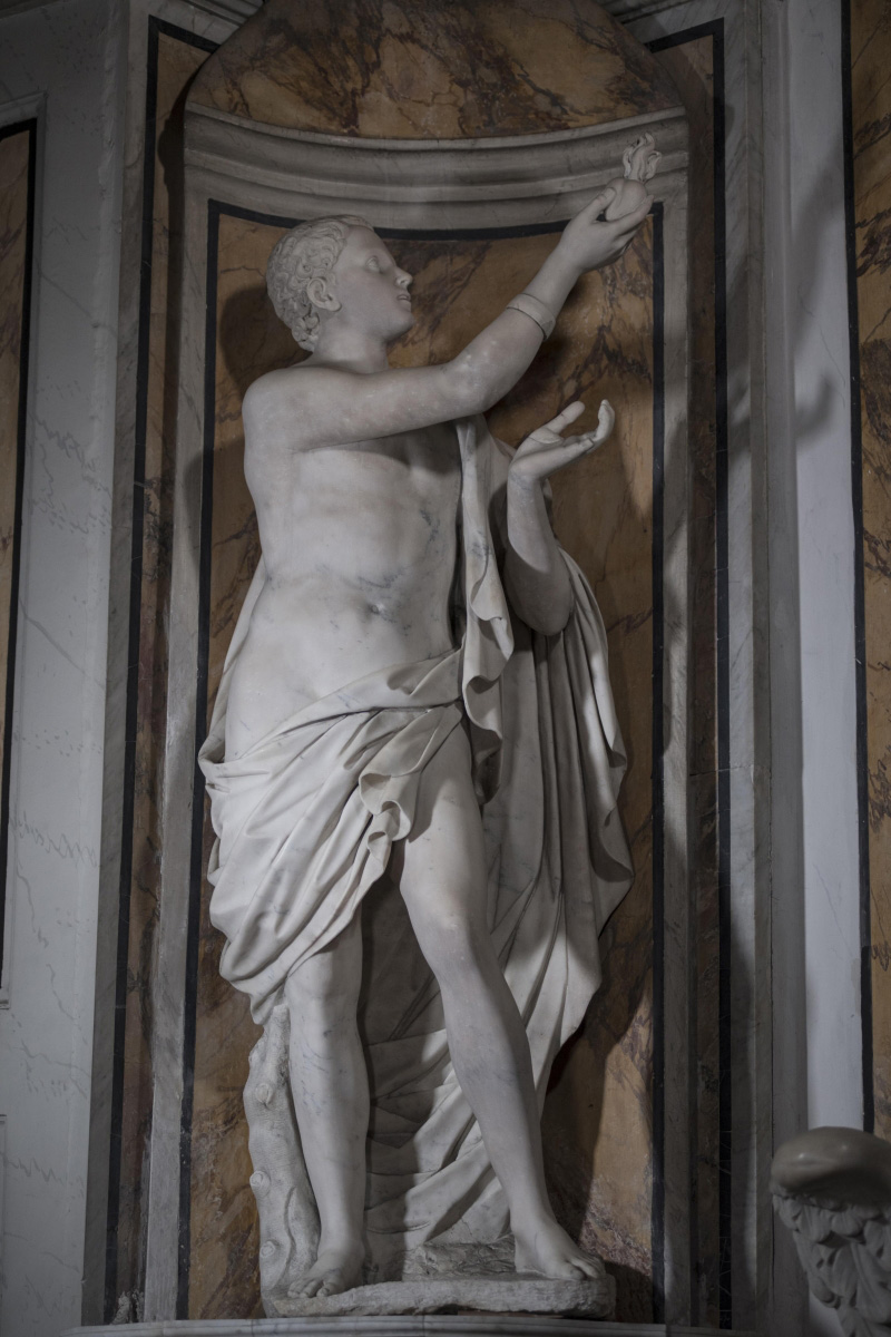 Francesco Queirolo (?), Amor divino (seconda metà del XVIII secolo; marmo; Napoli, Cappella Sansevero). Ph. Credit Museo Cappella Sansevero