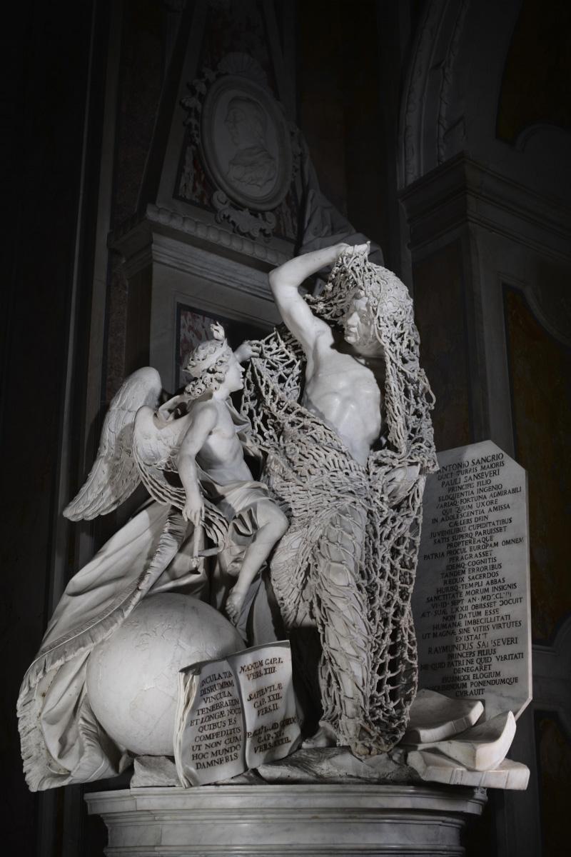 Francesco Queirolo, Disinganno (1753-1754; marmo; Napoli, Cappella Sansevero). Ph. Credit Museo Cappella Sansevero