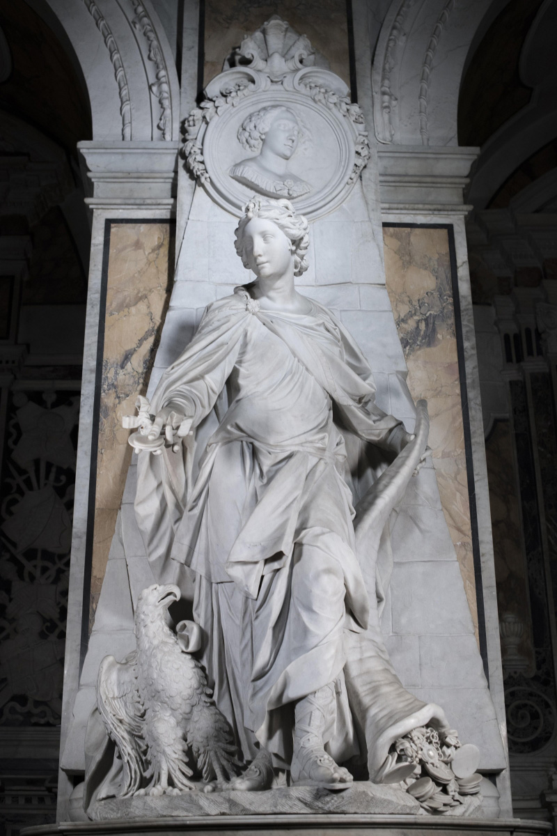 Francesco Queirolo, Liberalità (1753-1754; marmo; Napoli, Cappella Sansevero). Ph. Credit Museo Cappella Sansevero