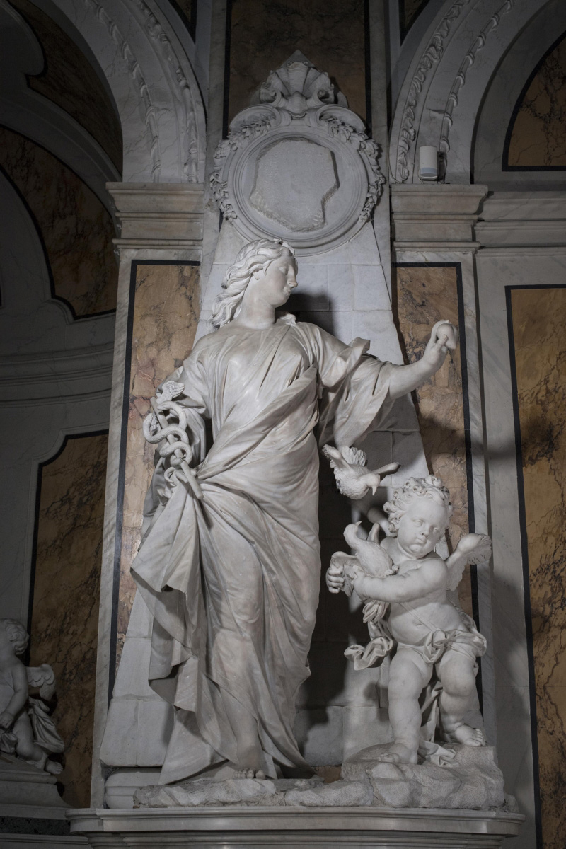 Francesco Queirolo, Sincerità (1754-1755; marmo; Napoli, Cappella Sansevero). Ph. Credit Museo Cappella Sansevero