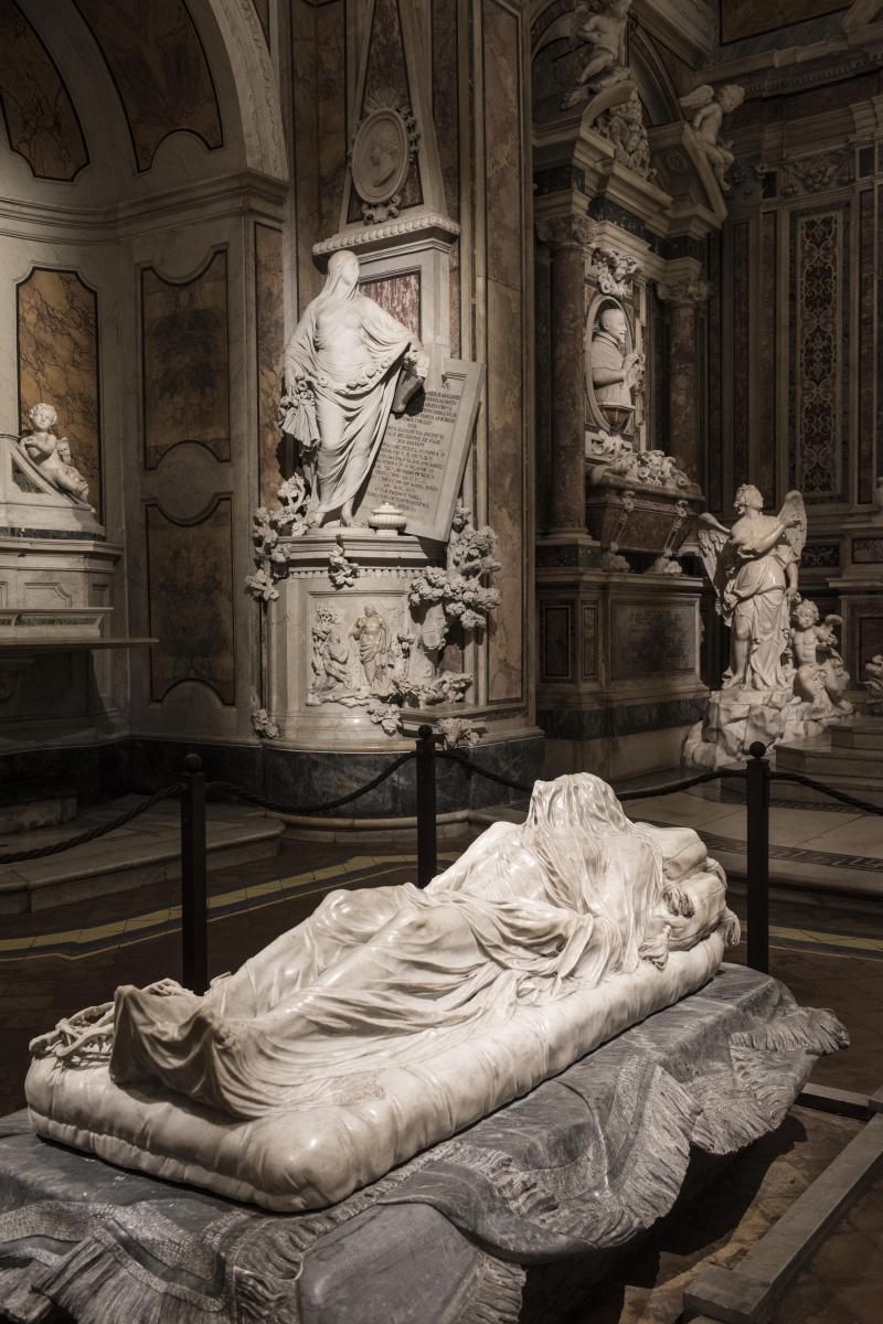 Giuseppe Sammartino, Cristo velato (1753; marmo, 180 x 80 x 50 cm; Napoli, Cappella Sansevero). Ph. Credit Museo Cappella Sansevero