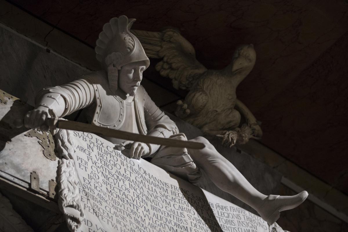 Francesco Celebrano, Monumento a Cecco di Sangro (1766; marmo; Napoli, Cappella Sansevero). Ph. Credit Museo Cappella Sansevero