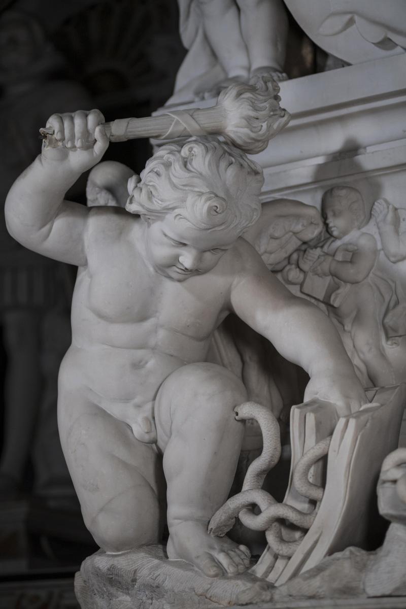 Fortunato Onelli, Francesco Celebrano e altri, Zelo della religione (1767; marmo; Cappella Sansevero). Ph. Credit Museo Cappella Sansevero