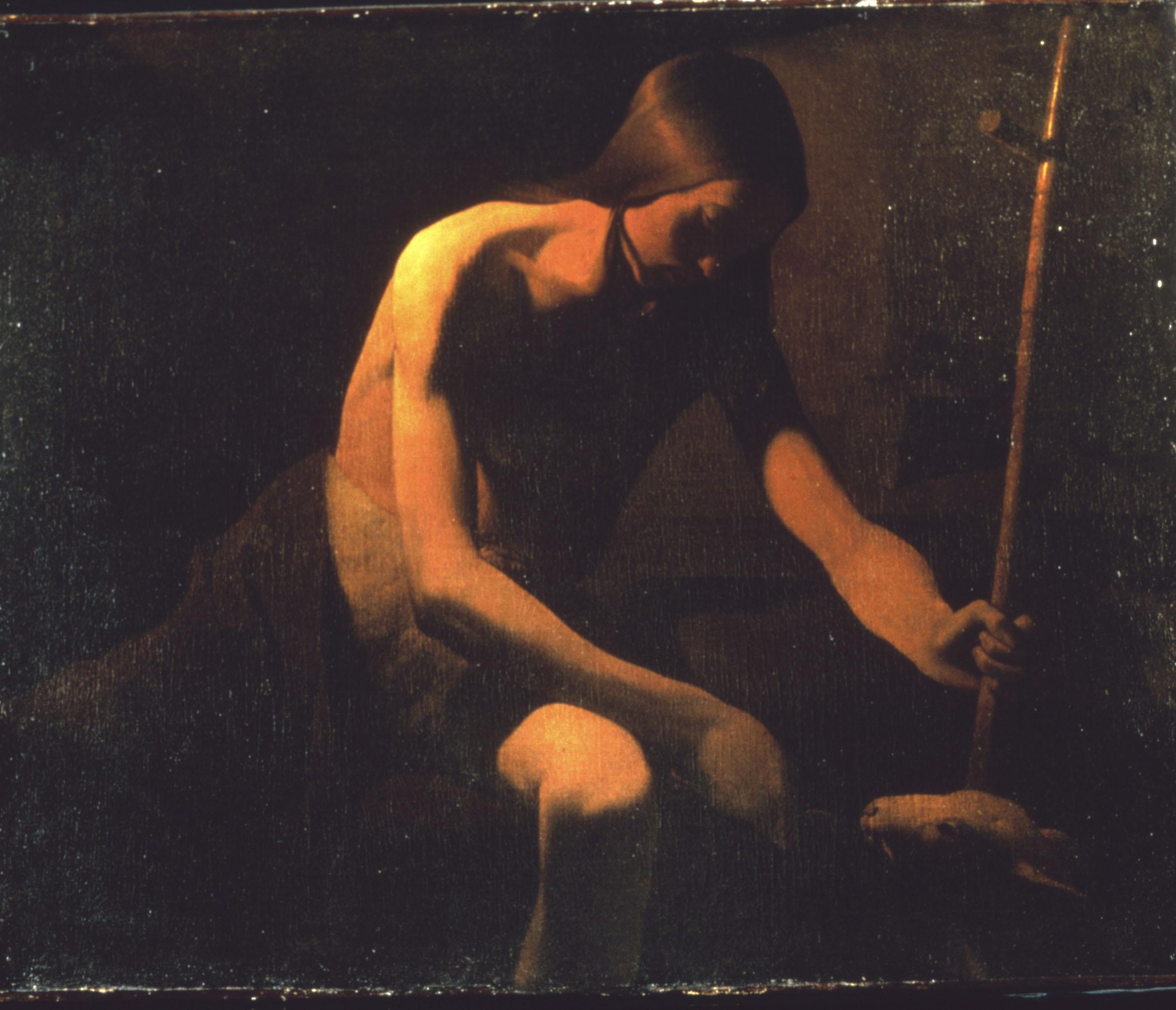 Georges de La Tour, San Giovanni Battista nel deserto (1649 circa; olio su tela, 81 x 101 cm; Vic-sur-Seille, Musée départemental Georges de La Tour)