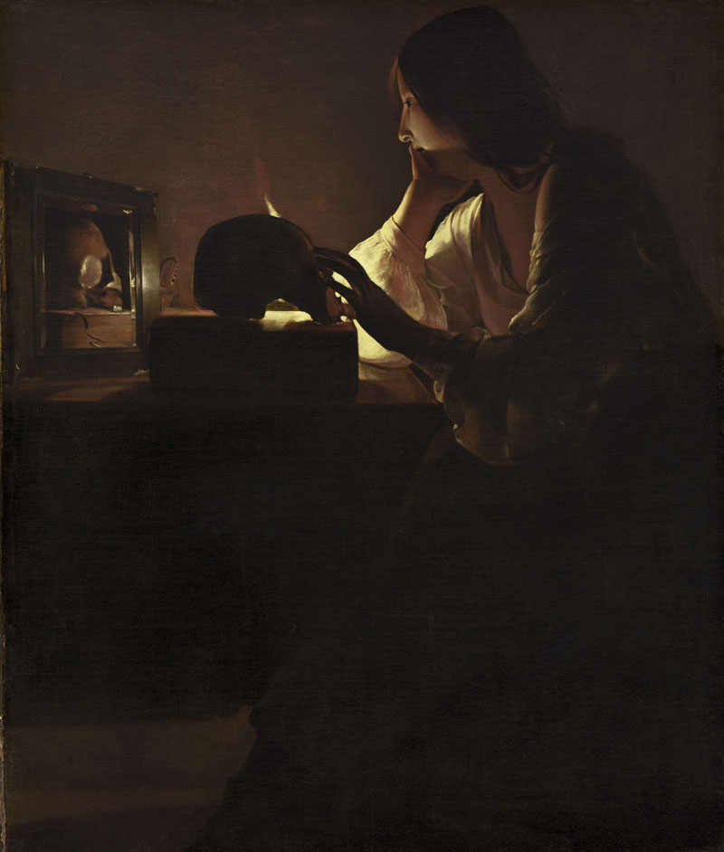 Georges de La Tour, Maddalena penitente (1635 - 1640; olio su tela, 113 x 92,7 cm; Washington, National Gallery of Art)