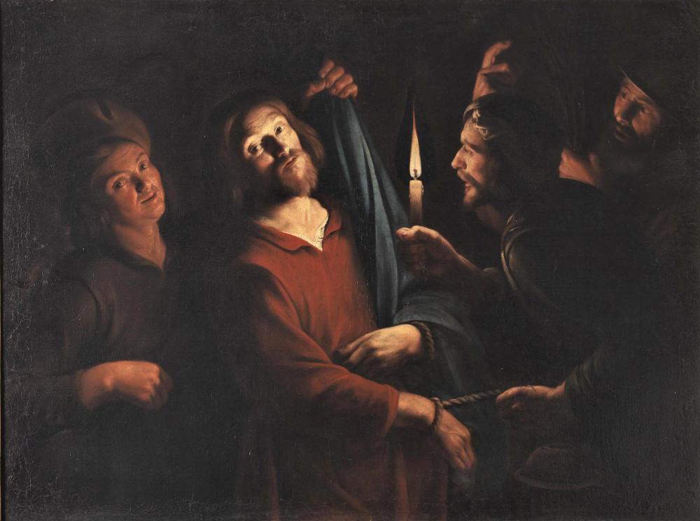 Maestro del lume di candela, La cattura di Cristo (1620 circa; olio su tela, 108,5 x 147 cm; Roma, Galleria Spada)