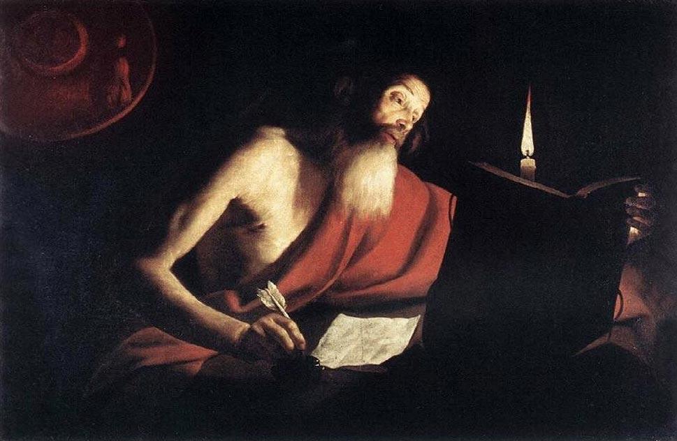 Maestro del lume di candela, San Girolamo (1630-1635; olio su tela, 105 x 138 cm; Roma, Gallerie Nazionali d'Arte Antica)