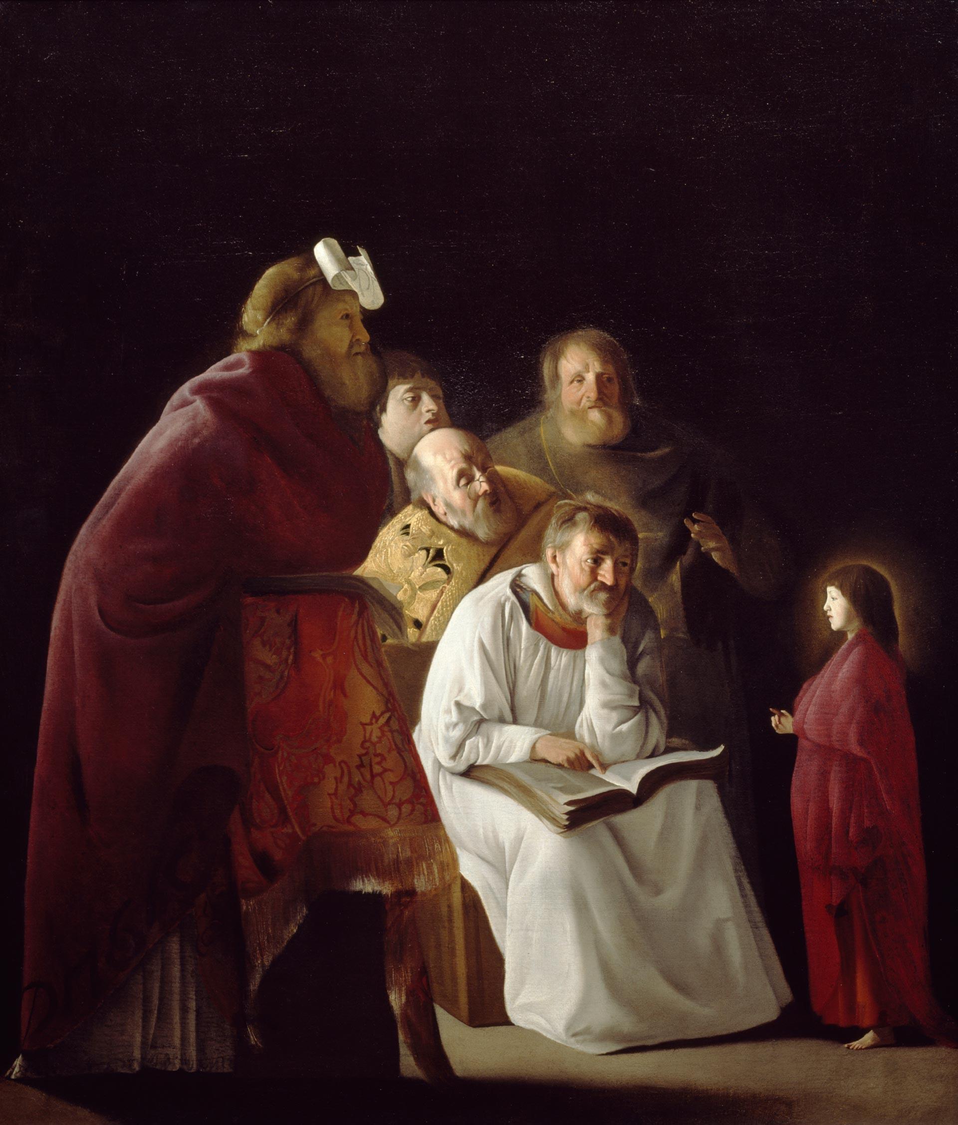 Paulus Bor, Gesù dodicenne al Tempio (1630-1635; olio su tela, 115,2 x 97,3 cm; Utrecht, Centraal Museum)