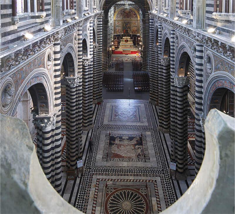 Il pavimento del Duomo di Siena. © Opera della Metropolitana di Siena