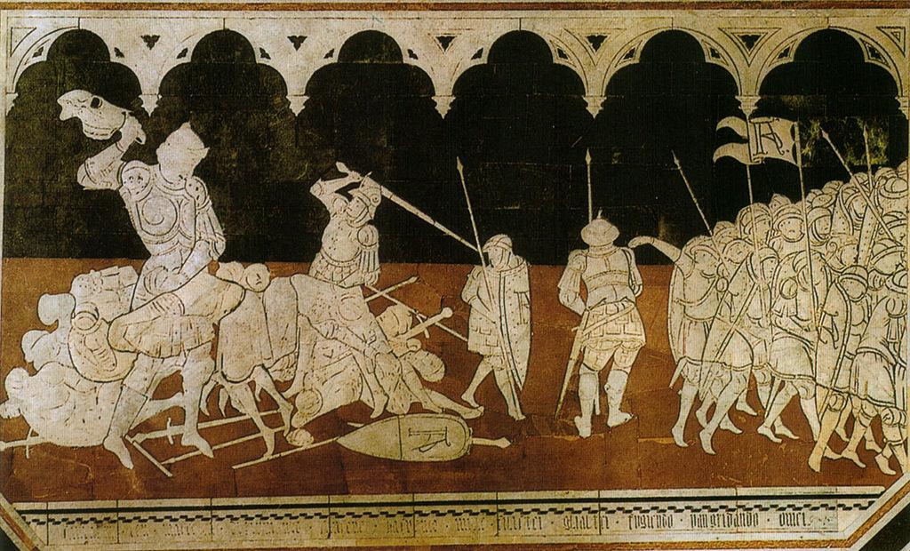 Sassetta, Sansone abbatte i filistei
