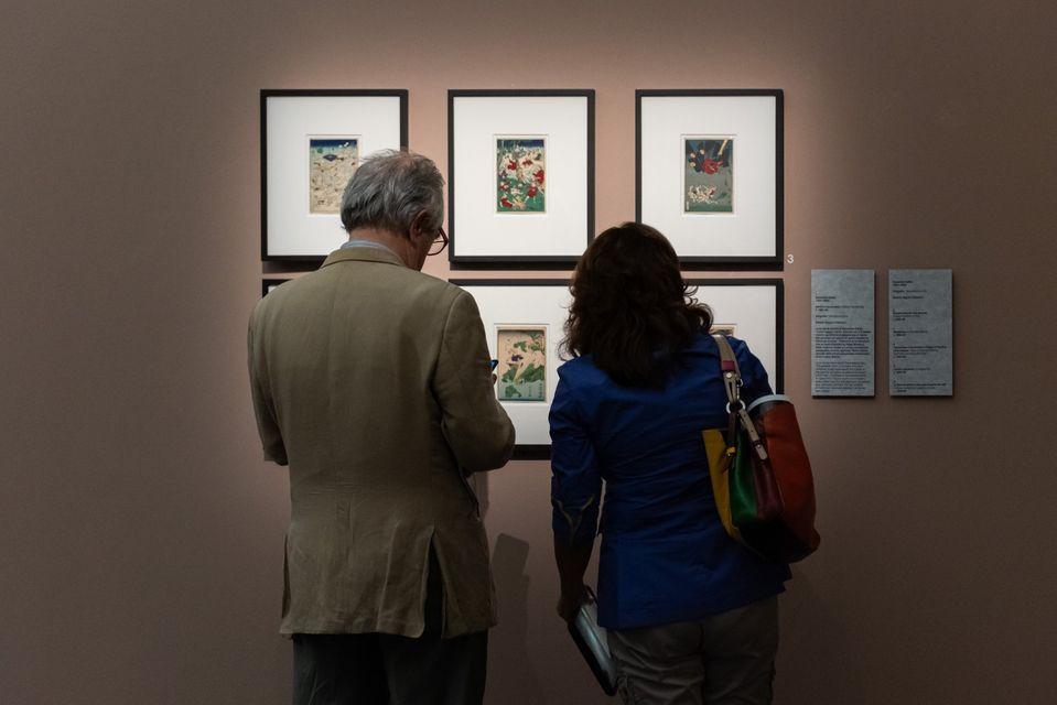 Visitatori alla mostra Impressioni d'Oriente al Mudec di Milano (1° ottobre 2019 - 2 febbraio 2020). Ph. 24 Ore Cultura