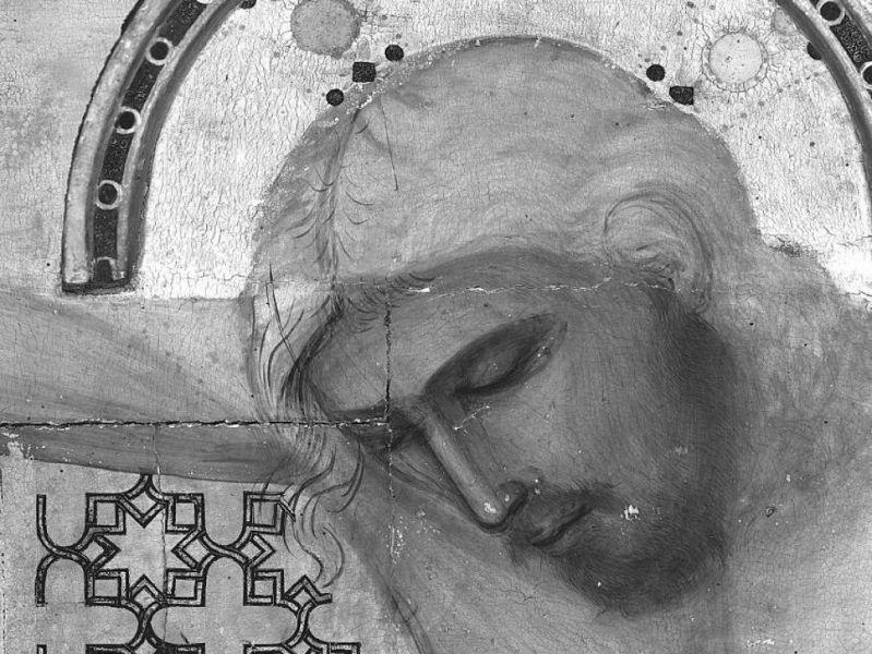Dettaglio del disegno del Crocifisso di Giotto