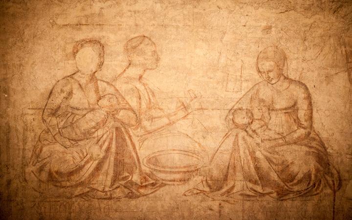 Una delle sinopie degli affreschi del Camposanto monumentale di Pisa (Pisa, Museo delle Sinopie)